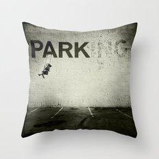 Banksy Tag Throw Pillow