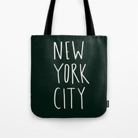 nyc Tote Bags featuring NYC by Leah Flores