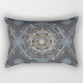 Inner View Bronze Mandala Rectangular Pillow