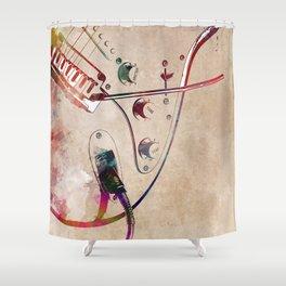 Guitar art 13 #guitar #music Shower Curtain
