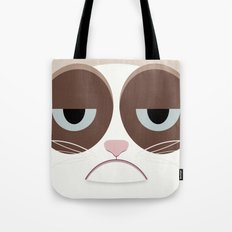 Grumpy Chubby Cat Tote Bag