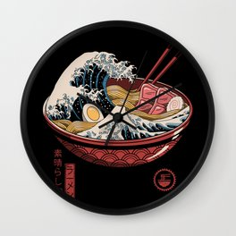 Great Ramen Wave Wall Clock