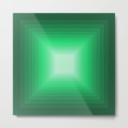 Green Square Gradient Metal Print