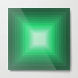 Green Square Gradient Metal Print