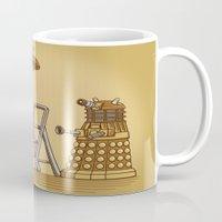 dalek Mugs featuring Dalek DIY by Doodle Dojo