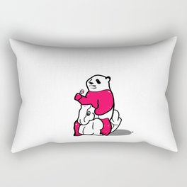 Ice Cream Panda Rectangular Pillow