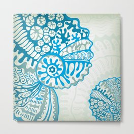 Sea Life: Shell 04 Metal Print