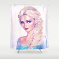 elsa Shower Curtains featuring Elsa by EcaJT