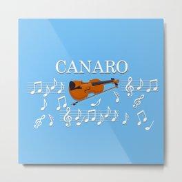 Tango Canaro Violin with Music Notes Metal Print