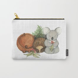 Native Australian Animal Babies – With Koala, Wombat And Echidna Carry-All Pouch