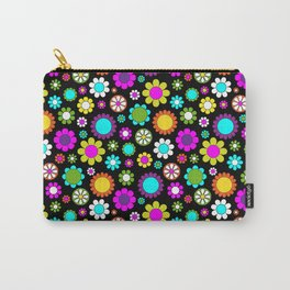 Mod Flower Pattern Carry-All Pouch