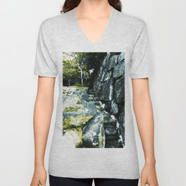 Anamorphic Stairs - Japan Unisex V-Neck
