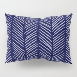 Indigo Herringbone Pillow Sham