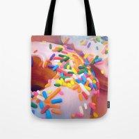 sprinkles Tote Bags featuring Sprinkles by ShannonPosedenti