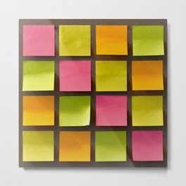 Sticky Notes Metal Print