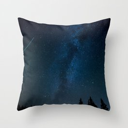 Night Sky Picture Throw Pillow