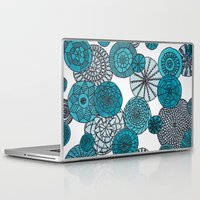 planets Laptop & iPad Skins featuring Blue Planets by sinonelineman