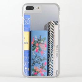 Shelfie in Blue Clear iPhone Case