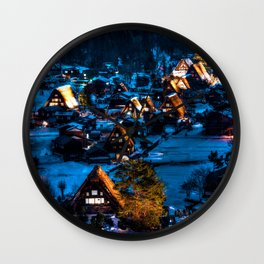 Magical Village Wall Clock