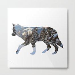 Wolf Cutout 2 Metal Print