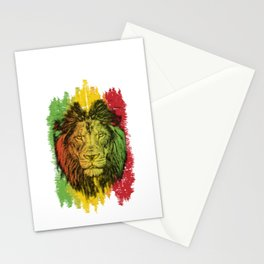 Rasta Jamaican Lion Gift for Rastafari & Reggae music fans graphic Stationery Cards