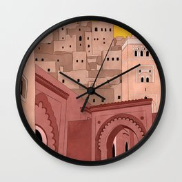 Marrakesh Illustration Wall Clock