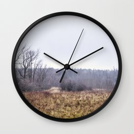 unusual winter Wall Clock