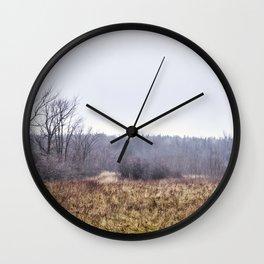unusual winter Wall Clock