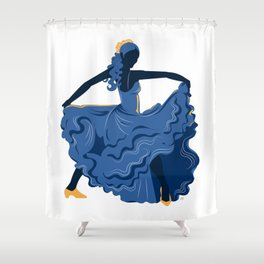 Flamenco Dancer 1 Shower Curtain