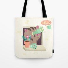 Hello Cat Tote Bag