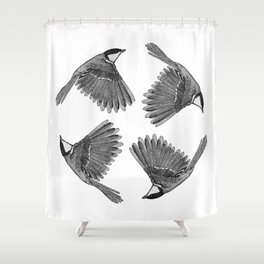 A Great tit named Titus Shower Curtain