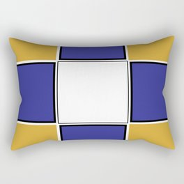 TEAM COLORS 3..... Navy , gold and white Rectangular Pillow
