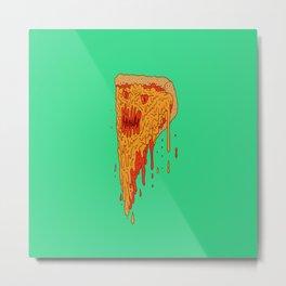 Evil Pizza Metal Print