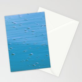 Abstract print in turquoise Stationery Cards