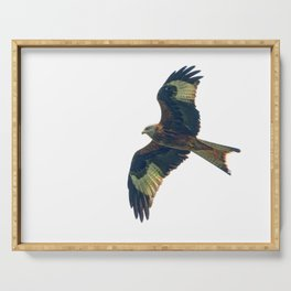 flying red kite Serving Tray