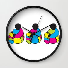3 Drummer Men Wall Clock