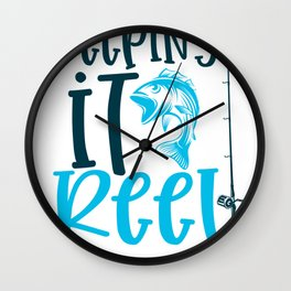 Fishing Novelty Keeping It Reel Wall Clock