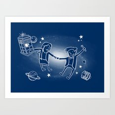 Adventures in Space/Time Art Print