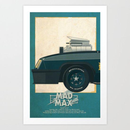Mad Max's Black on Black Interceptor from Mad Max, 1 of 3 Art Print