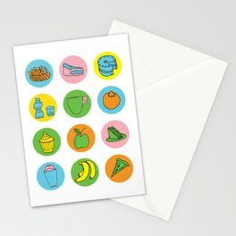 Lunch Time Menu Stationery Cards
