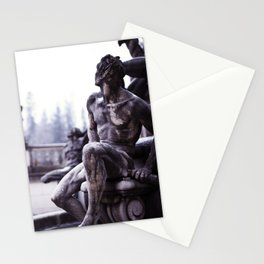 Nordic print, black white, wall art, sculpture, statues, abstract print, Eternity Stationery Cards