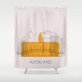 Auckland Landmarks Poster Shower Curtain