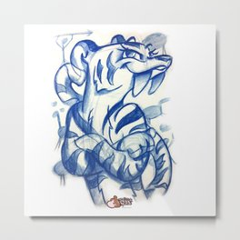 Saber Tooth Queen Sketch Metal Print