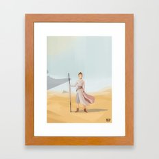 Scavenger Girl Framed Art Print