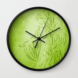 Angel of Healing - Abstract Angel Picture Wall Clock