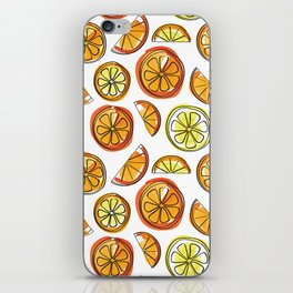 Illustrated Oranges and Limes iPhone Skin