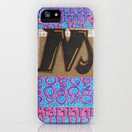 Alpha-Numero: M iPhone Case