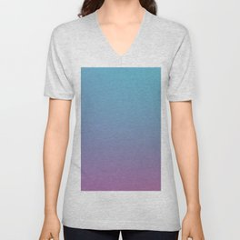 DIAMOND LOOK - Minimal Plain Soft Mood Color Blend Prints Unisex V-Neck