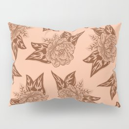 Cabbage Roses in Rust Pillow Sham