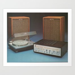 Vintage Speakers 1 Art Print